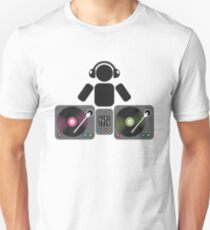DJ and turntables abstract drawing Unisex T-Shirt