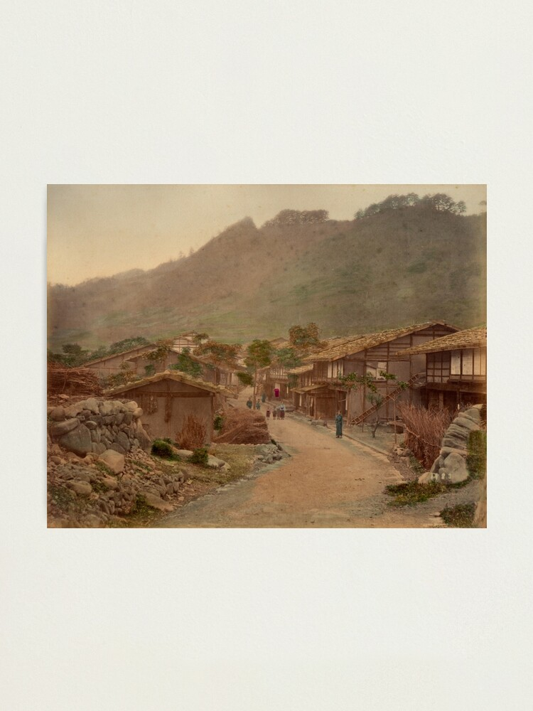 Alternate view of Wada village, Nakasendo Photographic Print