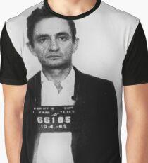 Johnny Cash Mug Shot Vertical Graphic T-Shirt