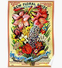 """""""FLORAL SEED"""" Advertising Vintage 1898 Print Poster"""