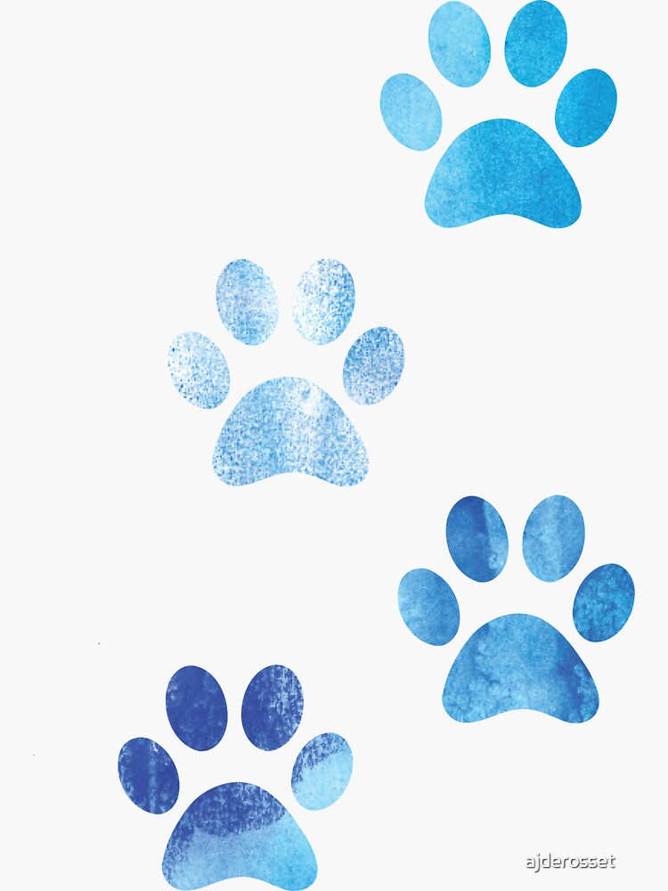 Watercolor Paw Prints by ajderosset