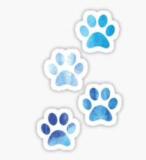 Watercolor Paw Prints Sticker