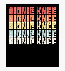 Retro Bionic Knee | Joint Replacement Knee Surgery Photographic Print