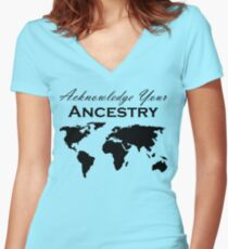 Acknowledge Your Ancestry  Women's Fitted V-Neck T-Shirt