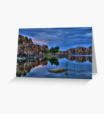 Barely Sunset At The Dells Greeting Card