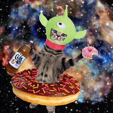 drunk alien kat by taco-elgato