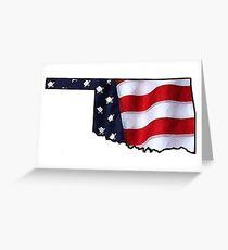 Patriotic Oklahoma Greeting Card