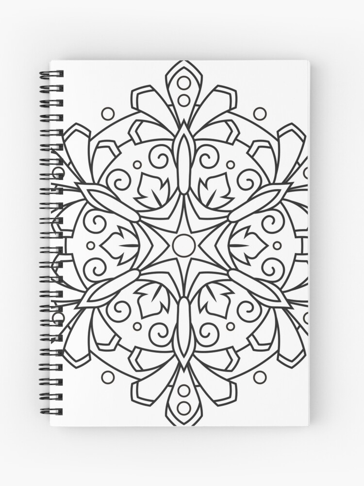 Color Your Own MANDALA - DIY Coloring Book 03 | Spiral Notebook