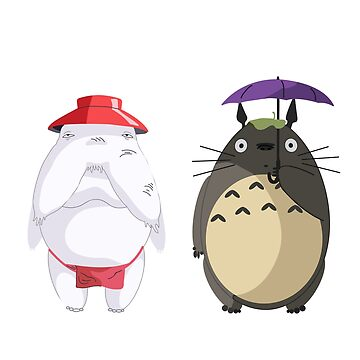 Totoro and Radish Spirit by P-Bubs
