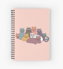 NINE CATS WITH NINE LIVES = ? Spiral Notebook