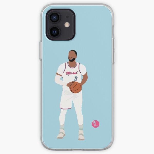 Dwayne Wade 'The R3turn' Miami Heat Art minimaliste // Étuis de téléphone Coque souple iPhone