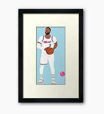 Dwayne Wade 'The R3turn' Miami Heat Minimalistische Kunst // Telefon Fällen, Shirts, Aufkleber und vieles mehr Gerahmtes Wandbild