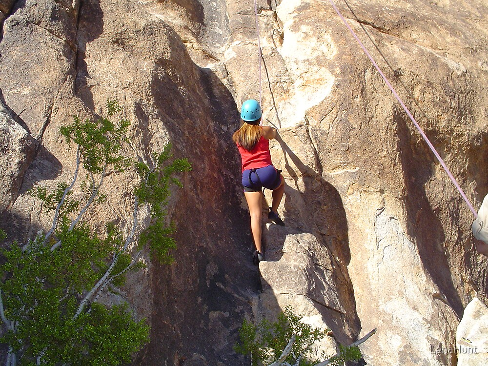 Rock climbing by LenaHunt