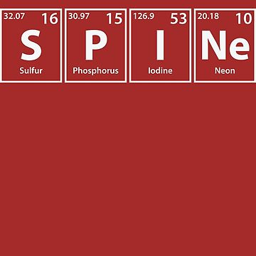 Spine (S-P-I-Ne) Periodic Elements Spelling by cerebrands