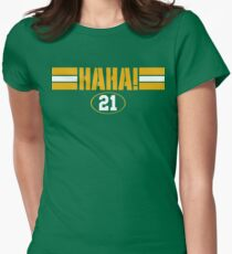 HAHA! Green Bay Womens Fitted T-Shirt