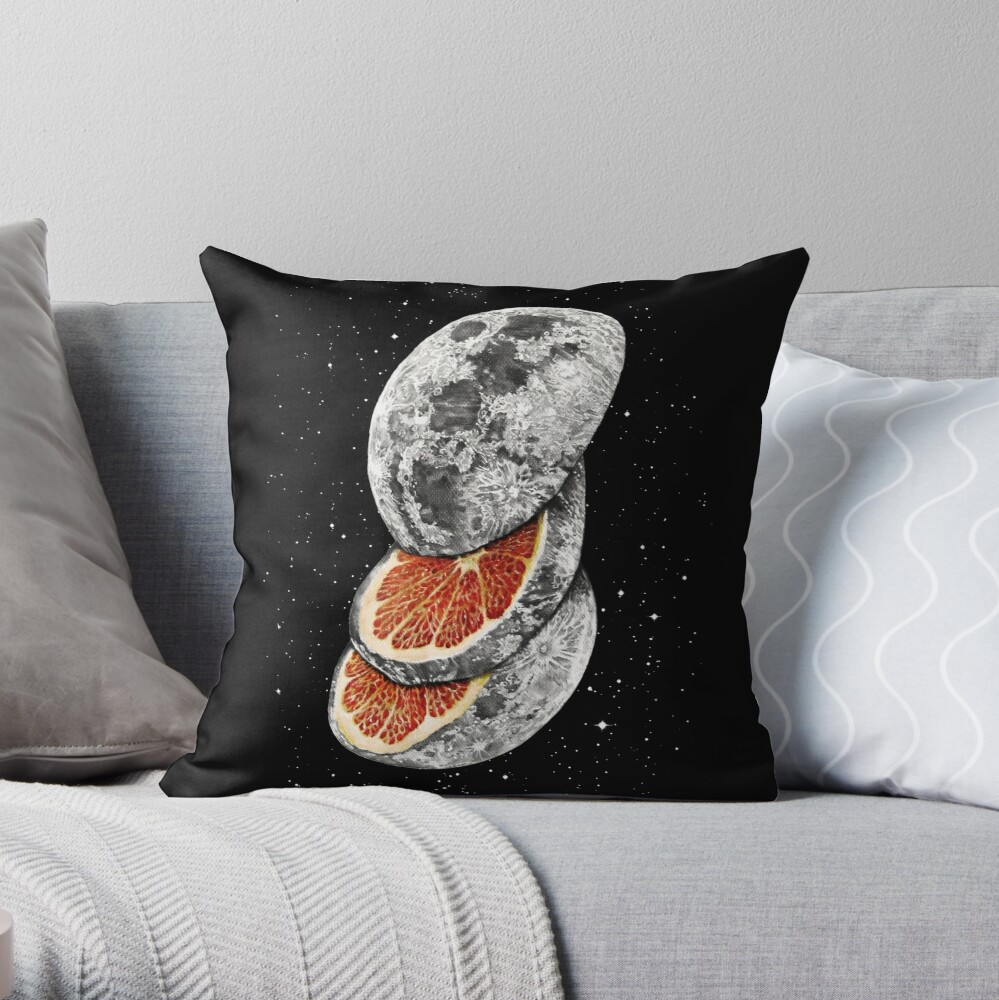 LUNAR FRUIT Throw Pillow