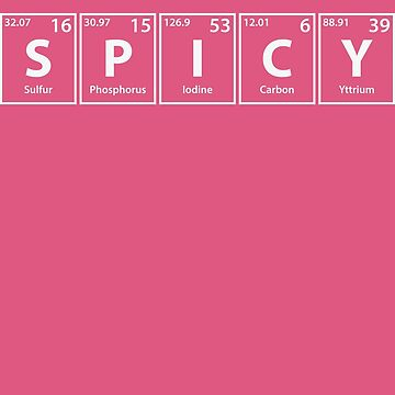 spicy s p i c y periodic elements spelling by cerebrands