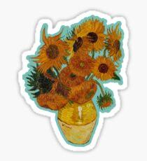 sunflowers van gogh Sticker