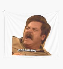 Ron Swanson Parks And Rec Angry  Wall Tapestry