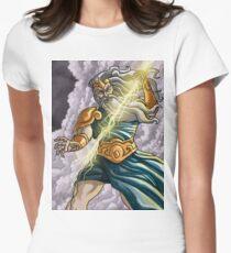 zeus jupiter mythology god of ray Women's Fitted T-Shirt