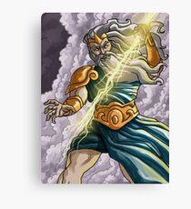 zeus jupiter mythology god of ray Canvas Print