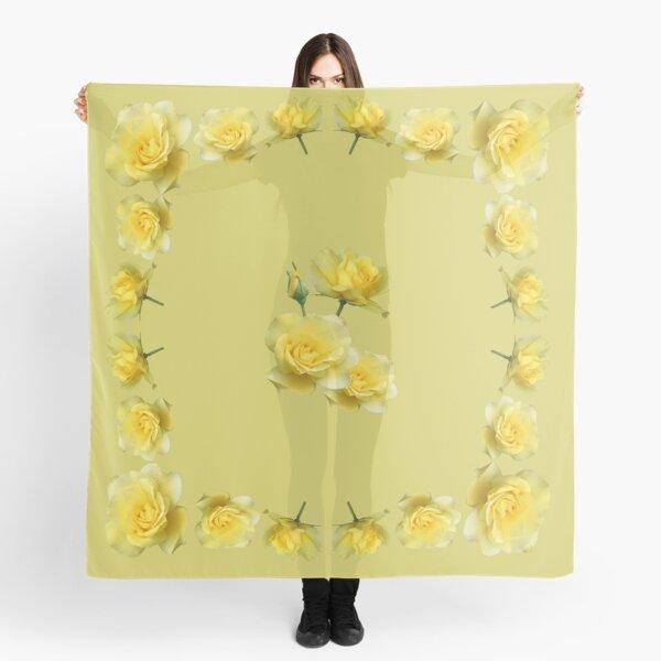 Yellow Rose Boquet Scarf