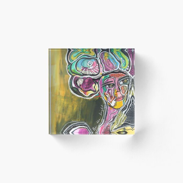 Abstract Woman Portrait: Be The Light Acrylic Block