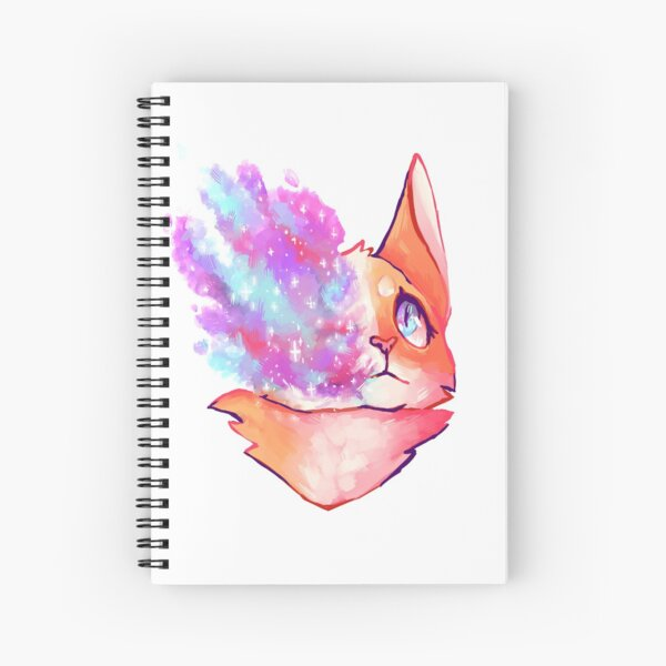 Bright Hearted Cat Spiral Notebook