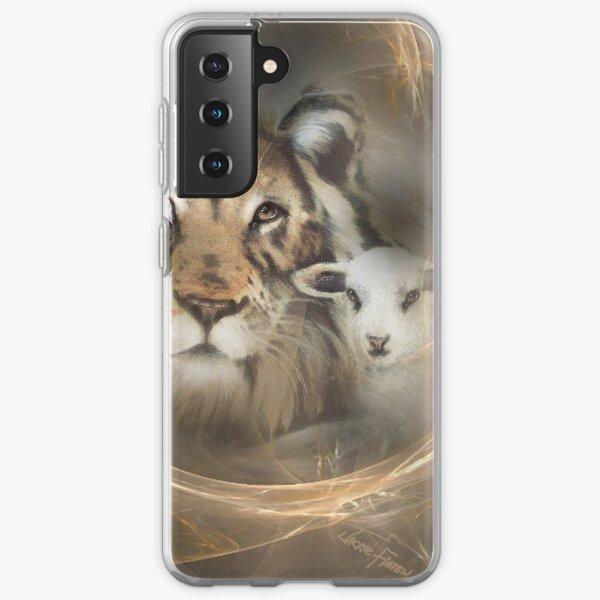 "lion lamb ""lion lamb"" Christ Jesus Christian Spirituality gifts popular ""best selling"" beautiful Samsung Galaxy Soft Case"