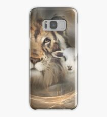 "lion lamb ""lion lamb"" Christ Jesus Christian Spirituality gifts popular ""best selling"" beautiful Samsung Galaxy Case/Skin"