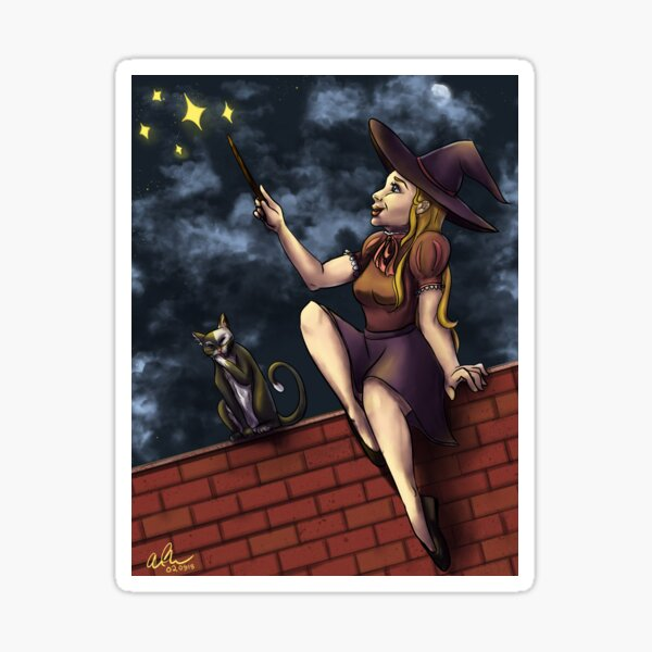 The Witch on the Wall Sticker