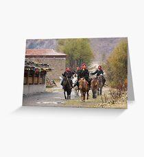 Horsewomen Greeting Card