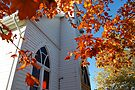 Country Church in Autumn by Tori Snow