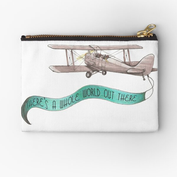 There's a Whole World Out There Zipper Pouch