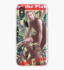 Save the Planet, Ride a Bike! iPhone Case