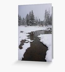 Cold Creek Greeting Card
