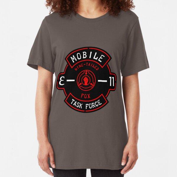 """MTF """"Nine-Tailed Fox"""" Badge Slim Fit T-Shirt"""