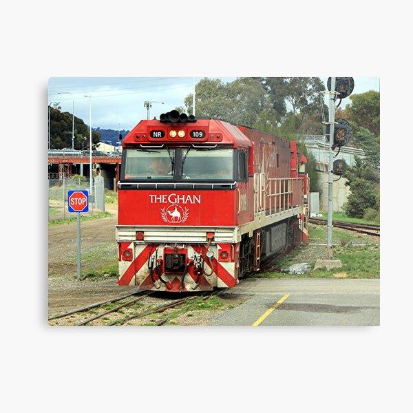 The Ghan train locomotive engine, Australia Metal Print