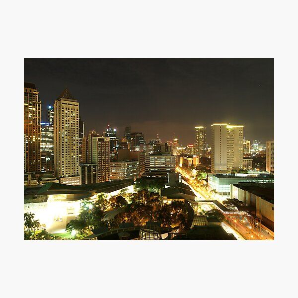 Makati City (Manila) at Night Photographic Print