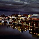 Night on the Sacramento Waterfront by Barbara  Brown