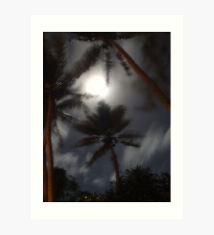 Moon Night On Erakor Is. Va. Art Print