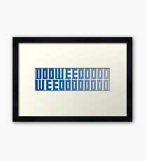 Doctor Who Theme Shirt  Framed Print