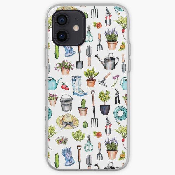 Garden Gear - Spring Gardening Pattern w/ Garden Tools & Supplies iPhone Soft Case