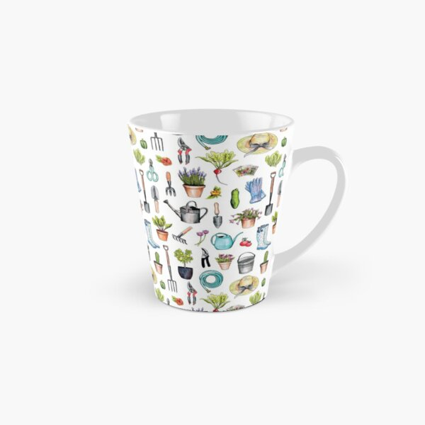 Garden Gear - Spring Gardening Pattern w/ Garden Tools & Supplies Tall Mug
