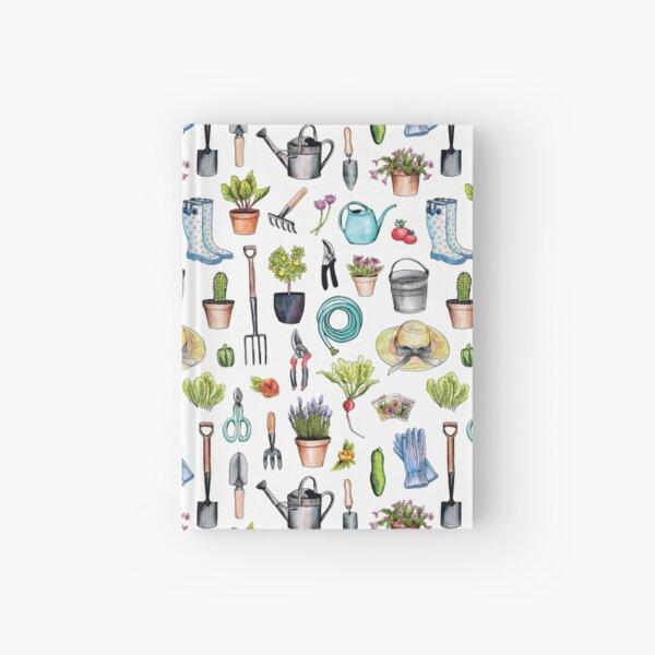 Garden Gear - Spring Gardening Pattern w/ Garden Tools & Supplies Hardcover Journal