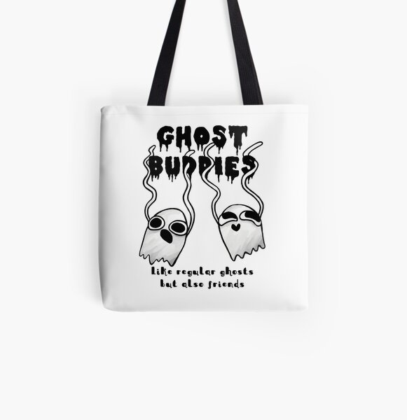 Ghost Buddies All Over Print Tote Bag