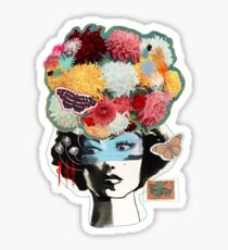 Flower Lady Colorful Surreal Abstract Art Design Sticker