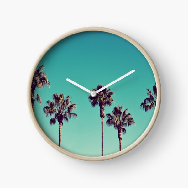California Palm Trees Clock
