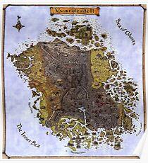 Elder scrolls map Poster