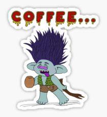 Coffee Zombie Branch Sticker
